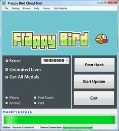"""ndroid version did a great popularity. Is available on many devices.  It was published also on the IOS'a.  Also there are plans to release its Windows Phone.  This game is very difficult, must control the bird.Our tool """"Flappy Bird Cheat Tool"""" helps the game."""