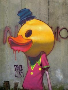 #graffiti #duck