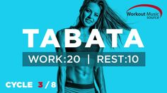 Workout Music Source // TABATA Cycle 3/8 With Vocal Cues (Work: 20 Secs ...