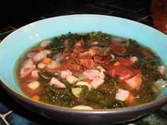 Ham, Bean and Swiss Chard Soup