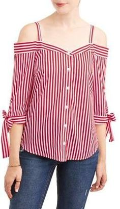 Millenium Women's Stripe Off the Shoulder Tie Sleeve Top Classy Outfits, Casual Outfits, Shirt Refashion, Summer Outfits Women, African Fashion, Blouse Designs, Trendy Fashion, Fashion Dresses, Clothes For Women