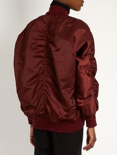 Balenciaga Reversible oversized nylon bomber jacket