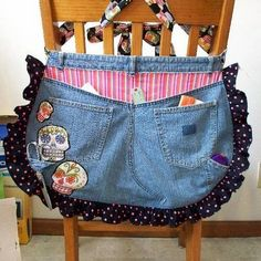 Two Recon Aprons - Sugar Skull Jeans Butt and Pillowcase Pinnie - CLOTHING