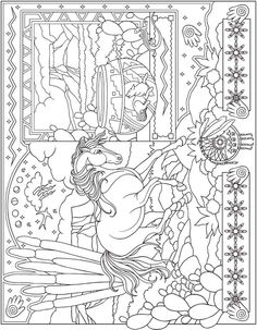 Dover ESCAPES Collage Art Coloring Page 4 Book