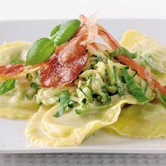 Recept - Mezzelune met courgette en krokante ham - Allerhande