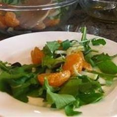 "Arugula Salad with Citrus Vinaigrette | ""The pears elevate the recipe from good to excellent."""