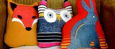 recycled sweater animals