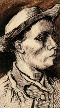 Head of a Man  - Vincent van Gogh