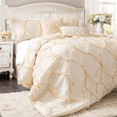 Brooke Comforter Set in Ivory  at Joss and Main
