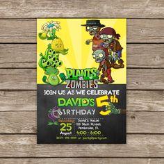 Plantas vs Zombies invitación plantas vs Zombies por PartyGiraffe