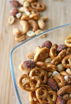 Honey Roasted Snack Mix - Gluten Free- this site also has other gluten free/dairy free/ect recipes