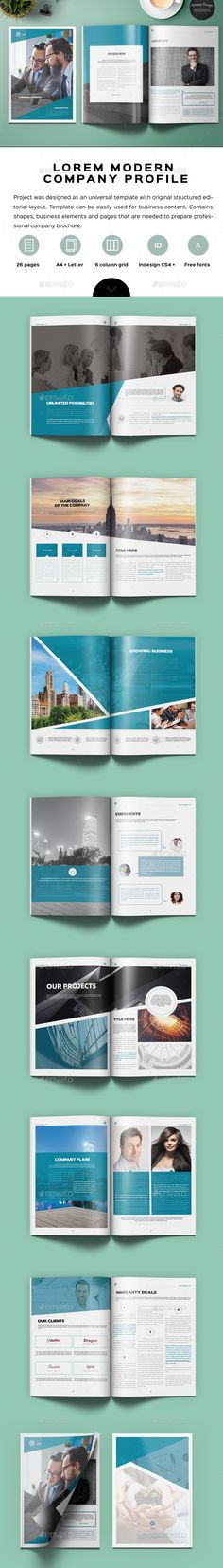 Portfolio Brochure Template #design #print Download http - interior design brochure template