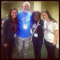 Clive Rainey with #YLC2012 participants via @hheimer