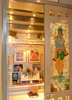 Pooja Room Door Designs That Beautify Your Mandir Entrance Latest Door Designs, Lcd Panel Design, Temple Design For Home, Plywood Design, Mandir Design, Pooja Mandir, Pooja Room Door Design, Wardrobe Design Bedroom, Puja Room