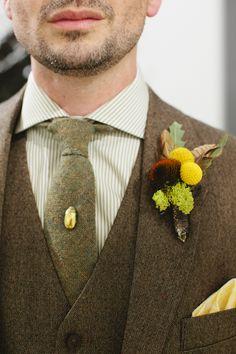 tweed suite, beetle tie pin