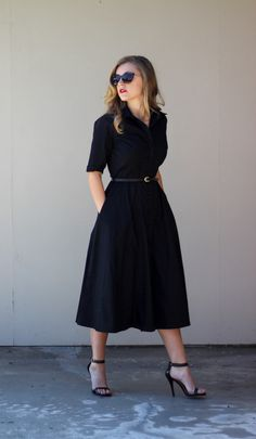 Black Custom Dress from eShakti
