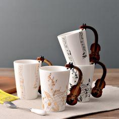 250ml Creative electric guitar music ceramic mug guitar Music character mug Gift Free shipping. Yesterday's price: US $21.40 (17.37 EUR). Today's price: US $16.91 (13.72 EUR). Discount: 21%.