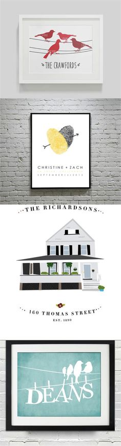 Make all of your house guests jealous with these custom personalized art prints. These also make lovely housewarming or newborn gifts!   Made by people who care on Hatch.co