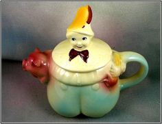 Ceramic Shawnee Tom The Piper's Son Figural Teapot - For Sale on Ruby Lane $190.00