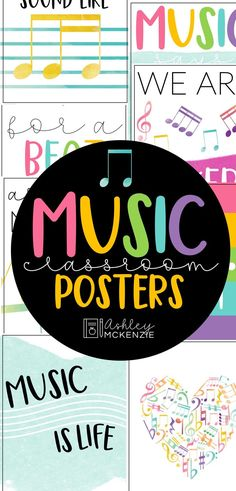 These music classroom posters will brighten up your walls, bulletin board, or door! Click to see all 8 fun and bright posters included!