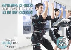 Septiembre es el mes del fitness, recupera la forma física de la forma más rápida con el entrenamiento que recomiendan fisioterapeutas y utilizan deportistas y famosos. ¡Aprovecha los descuentos que tenemos este mes!