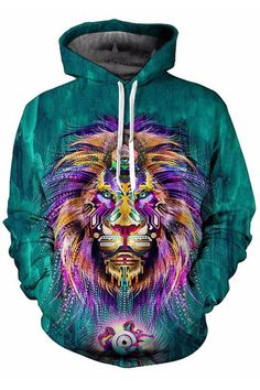 LED.Z.COUR Cannabis Accessories Lion Sunglasses Mens Black Pullover Hoodie Sweater Fleece Designer Long Sleeve