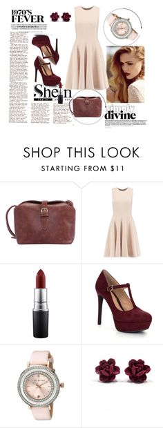 """""""Shein contest !"""" by lejlaaa1996 ❤ liked on Polyvore featuring Michael Kors, MAC Cosmetics, Gianni Bini, Ted Baker, women's clothing, women, female, woman, misses and juniors"""