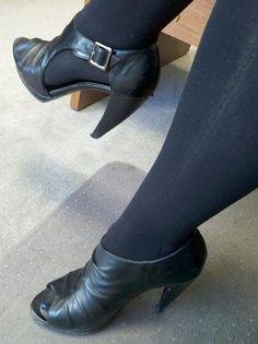 Peep toe booties by Steve Madden