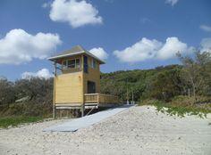 Rainbow Beach Surf Lifesaving Club Tower. Rainbow Beach, Queensland, Australia.