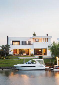 Awesome Modern House Design for Your Dream House Duplex House Design, Modern House Design, Contemporary Design, Residential Building Design, Casas Containers, Tree House Designs, Facade House, Model Homes, Home Fashion