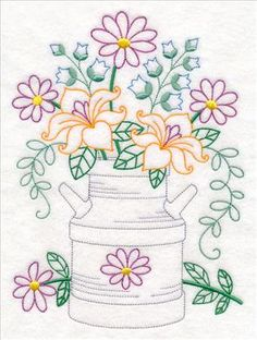 Vintage Embroidery Patterns Machine Embroidery Designs at Embroidery Library! - New This Week Learn Embroidery, Crewel Embroidery, Vintage Embroidery, Ribbon Embroidery, Beginner Embroidery, Simple Embroidery, Modern Embroidery, Embroidery Transfers, Machine Embroidery Patterns