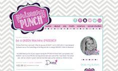 Designs By Kassie: Primary Punch | blog design