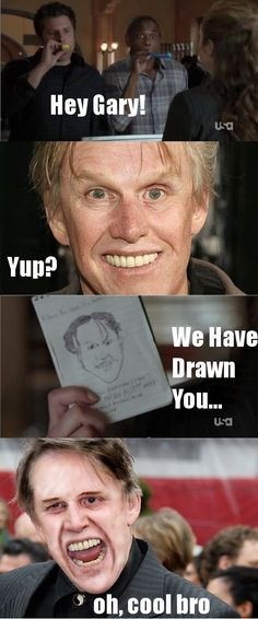 Gary Busey as your worst nightmare: | The 30 Most Horrifying Fan Tributes Of All Time