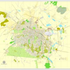 Lafayette PDF map, Indiana, US printable vector street City Plan ...