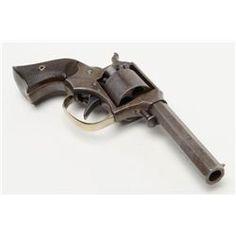 "Remington-Ryder Pocket DA percussion revolver, .31 cal., 3"" octagon barrel, blue finish, checkered"