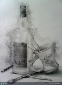 Still life - Sketching by Niloy Charu in Some Sketch.. at touchtalent