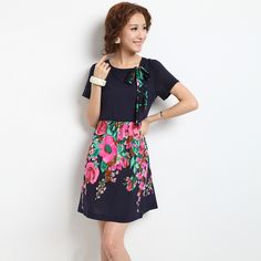 women's slim fit bow short sleeve waist dresses(No.LY0029), $57 @ Blog — The Pocket Mall