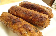 These sausages are firm enough to hold up on the grill. Vegan gluten free
