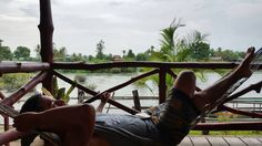 Adjusting to the fast pace life of the laos people #hammocklife #bangalow #mkongriver #laos by @sshiftyjimmy