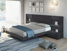 Modern Garcia Sabate Altea Bed in Matt White & Nogal Wood Opt Bedside Cabinets Bedroom Bed Design, Bedroom Furniture Design, Bed Furniture, Modern Bedroom, Bedroom Decor, Bedroom Lighting, Bedroom Ideas, Modern Beds, Modern Bedding