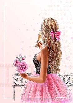 Beautiful Girl Drawing, Cute Girl Drawing, Cute Cartoon Girl, Cartoon Art, Girly M, Girly Drawings, Cute Girl Wallpaper, Girl Sketch, Digital Art Girl
