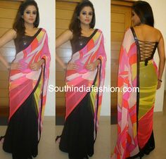 Priyamani in Half n Half Saree ~ Celebrity Sarees, Designer Sarees, Bridal Sarees, Latest Blouse Designs 2014