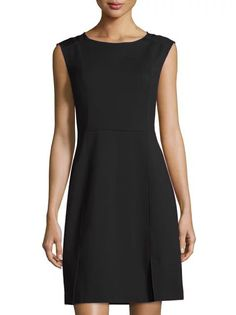 Black Round Neck Sleeveless Contrast Gauze Dress 44.99