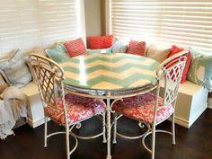 The-Sister-Studio: DIY: Chevron Breakfast Table