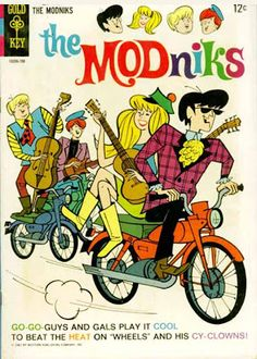 "Gold Key comic book title, ""The MODniks"" -- Old Comic Books, Vintage Comic Books, Comic Book Covers, Vintage Comics, Vintage Posters, Vintage Cartoon, Children's Books, Comic Cat, Archie Comics Riverdale"