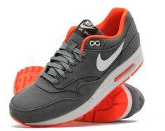 Nike Air Max 1 Denim | Grey & Orange