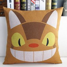 Catbus My Neighbour Totoro Decorative Cotton Linen by puresupply