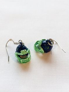 Seattle Seahawks Football Helmet Earrings by MyRainyDayDesigns