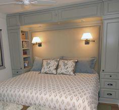48 popular small master bedroom makeover ideas - home - Bedroom Built Ins, Small Master Bedroom, Master Bedroom Makeover, Master Bedroom Design, Closet Bedroom, Cozy Bedroom, Trendy Bedroom, Bedroom Decor, Bedroom Ideas