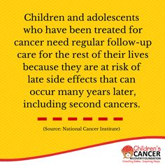 Did you know? For more childhood cancer statistics: http://childrenscancerrecovery.org/childhood-cancer-statistics/